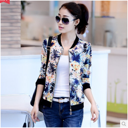 2016 Spring And Summer Long-sleeved Colorful Short Jacket Thin Section Sun Protectio
