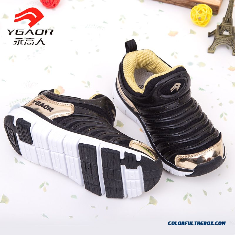 2016 Spring Kids Shoes Boys Casual High Quality Fabrics Absorb Sweat Basketball Shoes