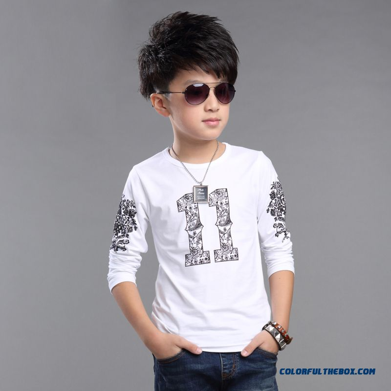 Boys Kids Short Sleeve Cotton Classic T-shirt Children Casual Top Sweatshirt