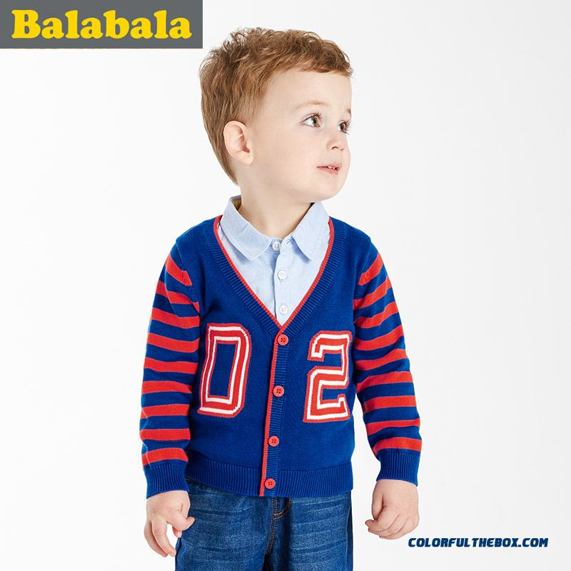2016 Spring New Kids' Long Sleeve Sweater Button Cardigan Coats Clothinf For Little Boys