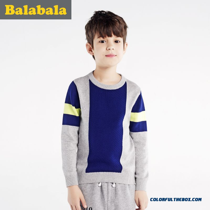 2016 Spring New Kids' Sweater Comfortable Fabrics Crew Neck Grey Green Two Color Available