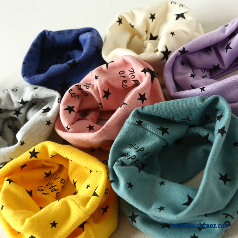 2016 Spring Star Cotton Babies Kids Neck Wrap Boys And Girls Multi-purpose Knitted Scarves