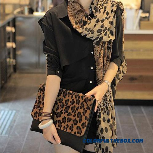 2016 Super Long Elegant Chiffon Scarves Women Fashion Leopard Scarf Shawl Dual-purpose Accessories