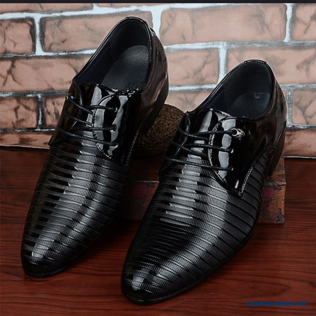 2019 Formal Shoes Men Pointed Toe Men Dress Shoes Lace Up Office Leather Men Oxford Formal Shoes For Men