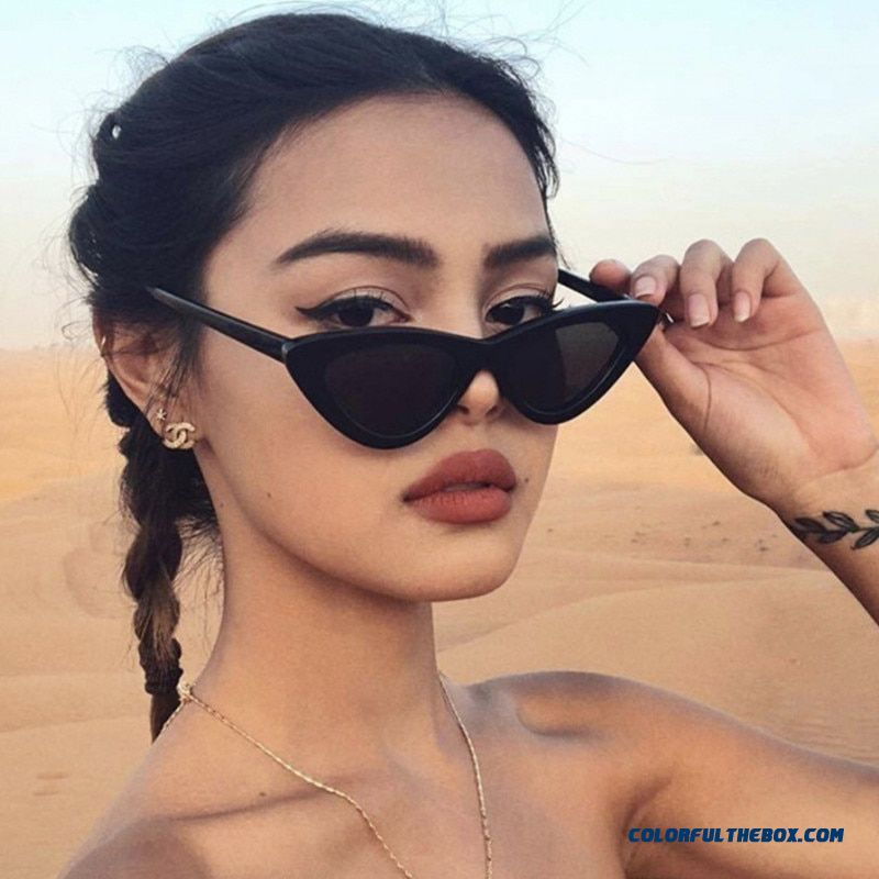 2019 Hot Fashion High Quality Cute Sexy Ladies Cat Eye Sunglasses Women Vintage Brand Small Sun Glasses Female Oculos De Sol
