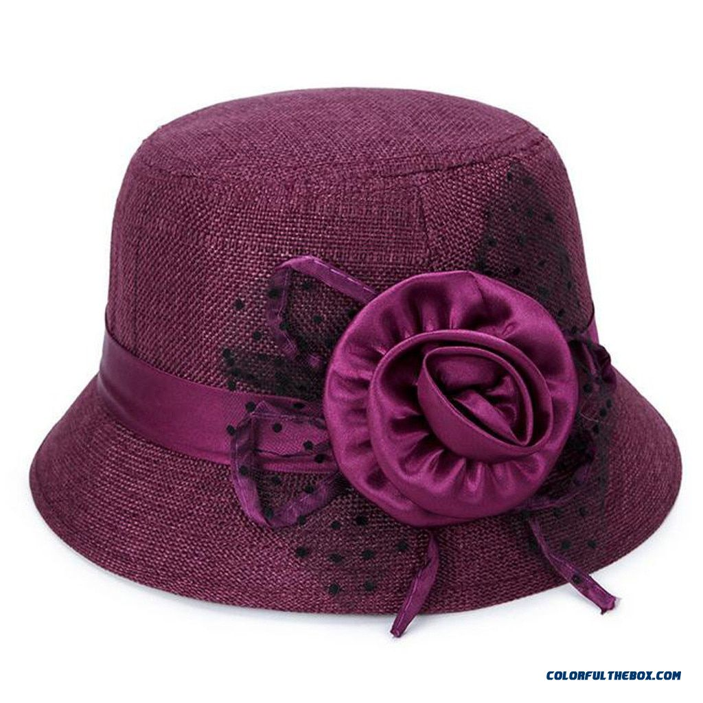 2019 Klv New Fashion Women's Spring And Summer New Fashion Linen Sunshade Hat Ladies Sun Hat 1218