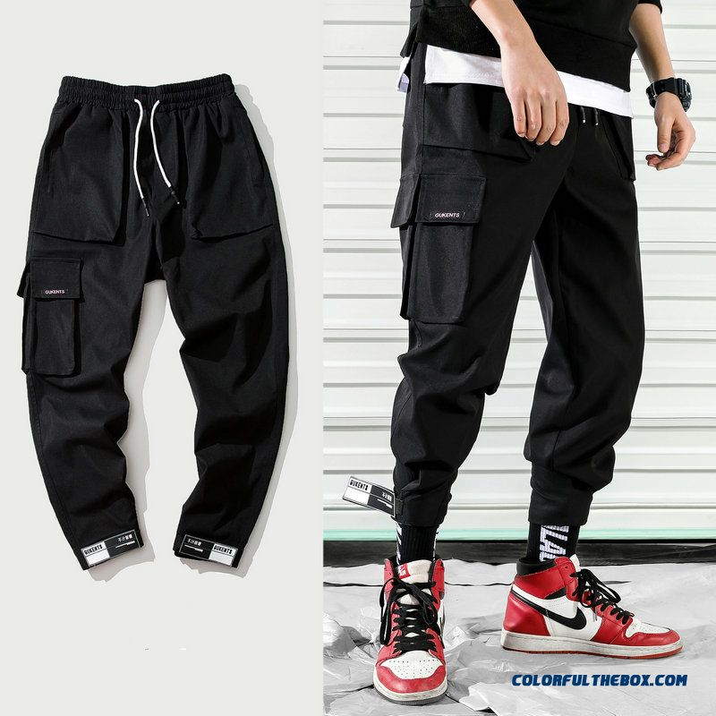 2019 New Fashion Cargo Pants Men Street Style Cotton Jogger Pants Men Casual Slim Sweatpants Men