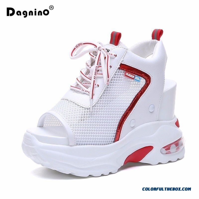 2019 New Summer Platform Sandals For Women 10cm Wedges Thick Bottom Casual Shoes Comfortable White Wedge Sandals Sneakers Ladies