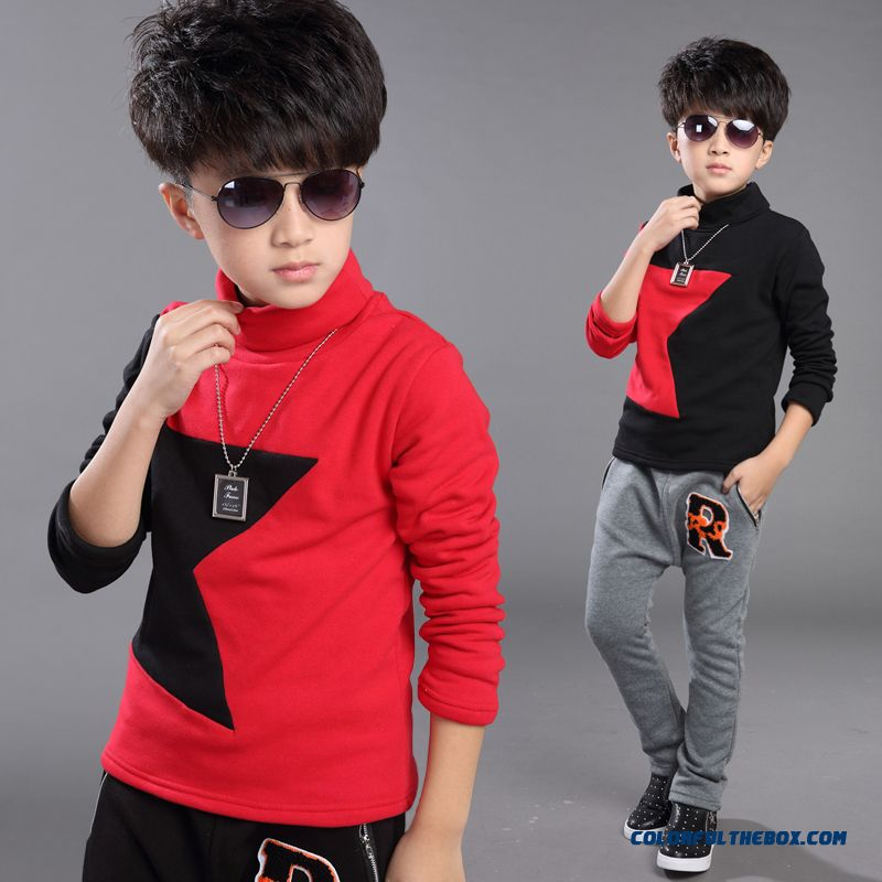 5-12 Years Old Children Kids Boys Thermal Underwear Long-sleeved Boutique Fabrics T-shirt