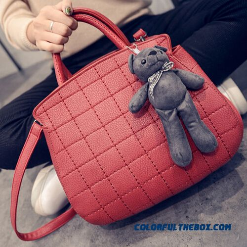 5 Colors Available Sewing Thick Thread Women Shoulder Bags Free Shipping