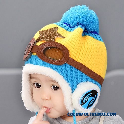 Adorkable Lovely Aviator Glasses Wool Hat Fall Winter Infants Kids Hats Accessories For Girls