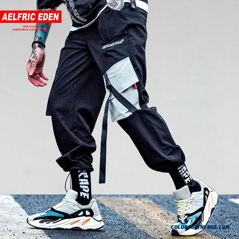 Aelfric Eden Pockets Cargo Pants Mens Casual Harem Joggers Baggy Harajuku Streetwear Hip Hop Fashion Swag Tactical Trousers Kj64