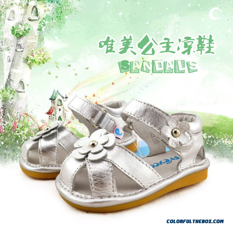 All-match Girls Sandals Fashion 1-2-3- Years Old Kids Free Shipping Shoes