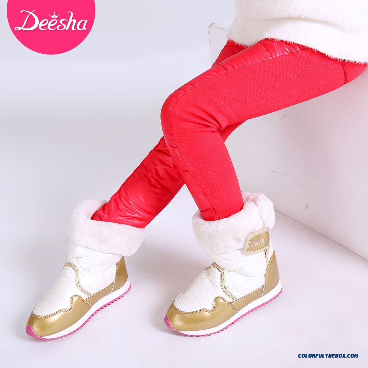 All-match Kids Thin Slim Pants Winter Long Pants Girls Down Pants - more images 2