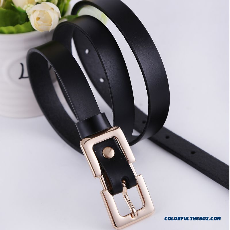 All-match Pin Buckle Simple Cowhide Belt Fashion Decoration Women Favorite Accessories