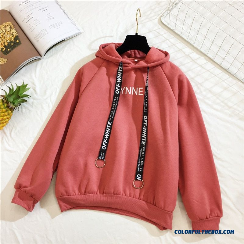 Arfreeker Casual Hoodies Women Brand Long Sleeve Thick Warm Hooded Black Sweatshirt Hoodie Coat Casual Sportswear Pullovers - more images 2