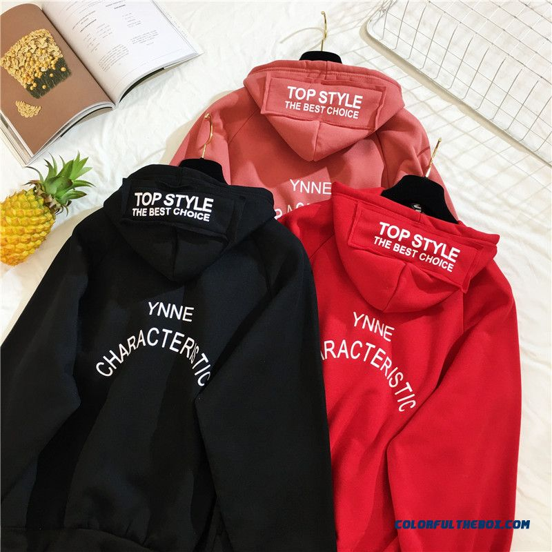 Arfreeker Casual Hoodies Women Brand Long Sleeve Thick Warm Hooded Black Sweatshirt Hoodie Coat Casual Sportswear Pullovers - more images 3