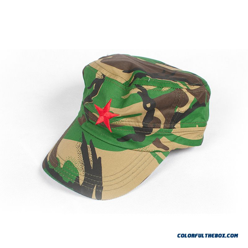 Army Kids Prince 2016 Newest Brand Classic Boys And Girls Red Five-pointed Star Camouflage Kids Caps