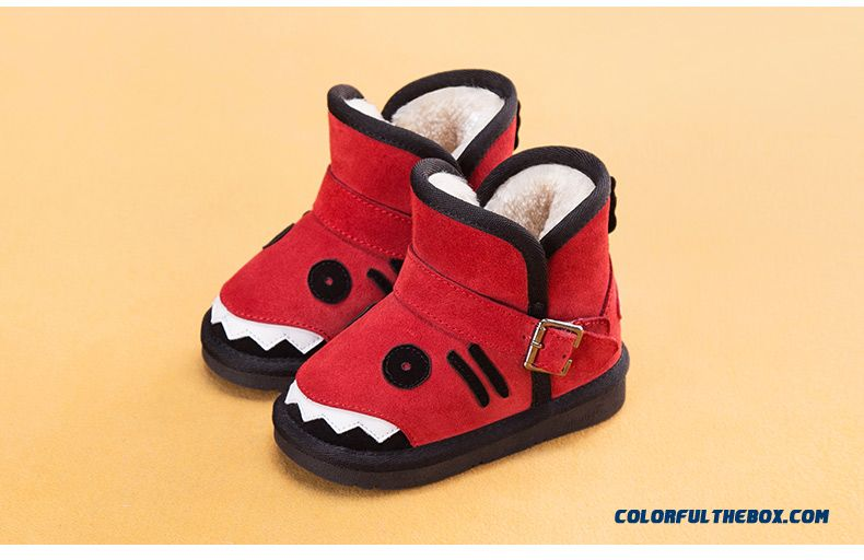 Artificial Plush Waterproof Boots Baby Boys And Girls Winter Boots 4 Kinds Of Colors
