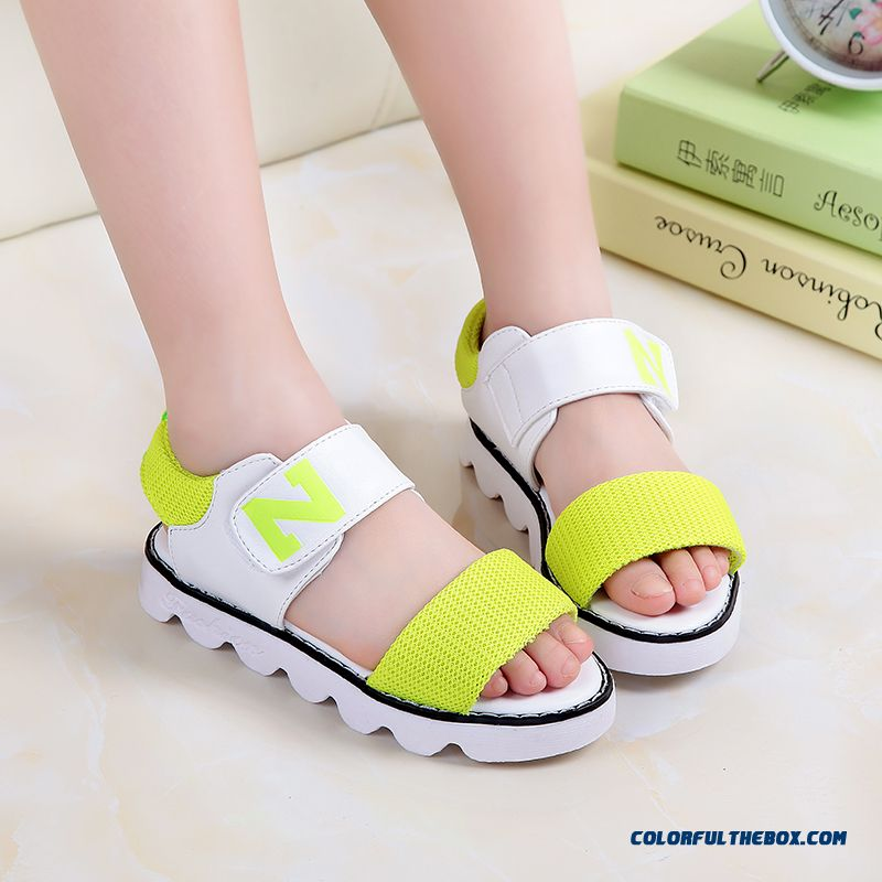 Authentic Korean Style N Word Student Shoes Baby Boys Soft Outsole Princess Girls Shoes Sandals
