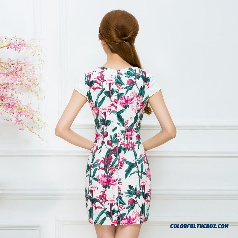 Authentic Women's 2016 Summer New Ethnic Style Printing Laies Dress Promotion - more images 2