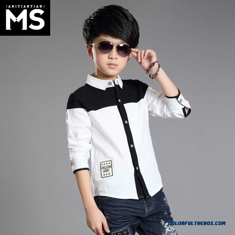 Autumn 2016 New Kids Clothing Long-sleeved Shirt Strong Popularity By Boys