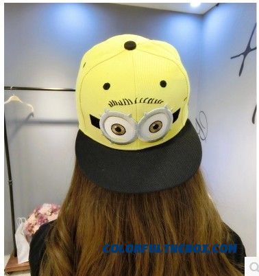 Autumn And Winter 4 Boys Baseball Cap 6 Girls Peaked Cap Small Yellow People Children Kids Hat