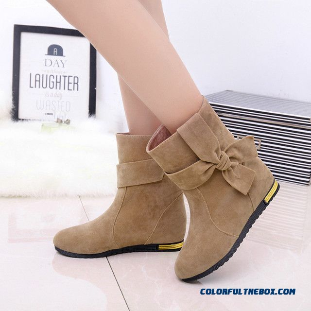 Autumn And Winter Boots Elevator Women Shoes Inside New England Style