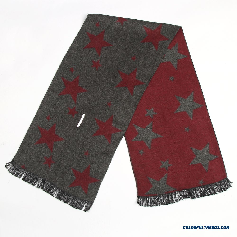 Autumn And Winter Cashmere Men's Short Section Of Small Business Scarves Thin Small Short Scarves
