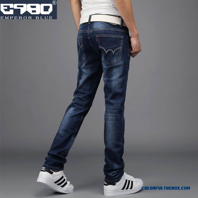 Autumn And Winter Elastic Fashion Comfortable Skinny Jeans For Men