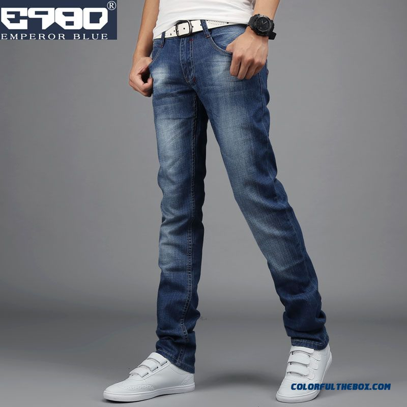 Autumn And Winter Elastic Jeans Skinny Slim New Design For Men Clothing
