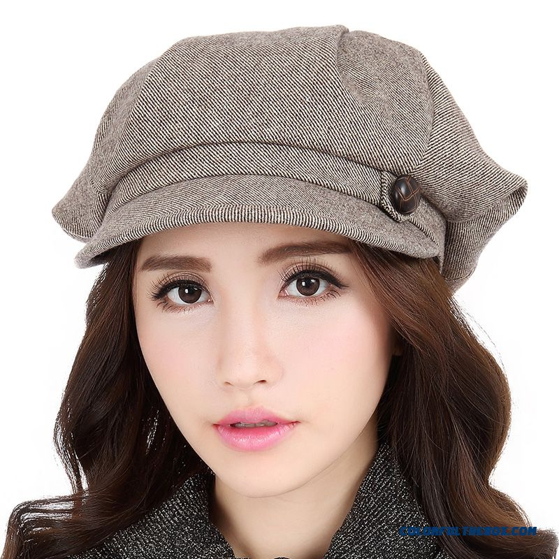 Autumn And Winter Fashion Horns Hat Women Octagonal Cap New Wool Hat Accessories