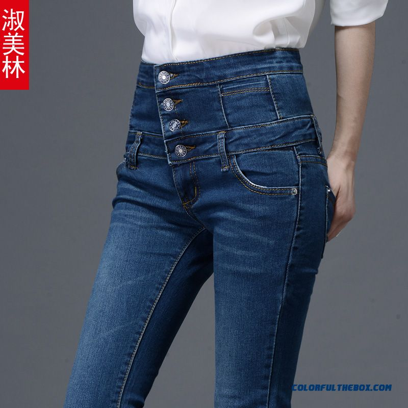 Autumn And Winter Jeans Pants Tide Women Leggings Pencil Pants High Waist
