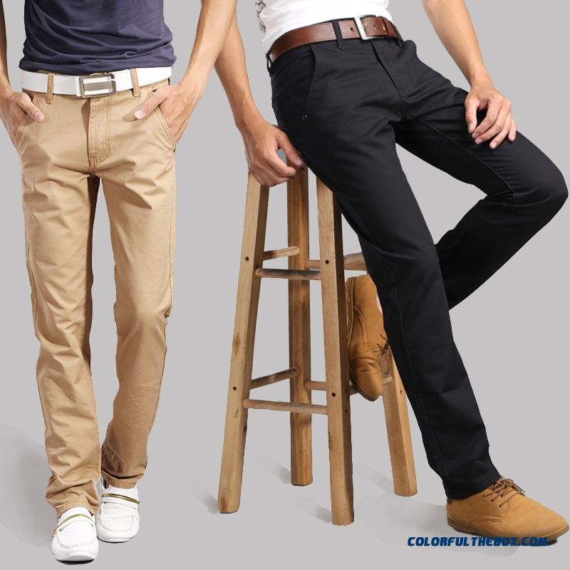 Autumn And Winter Men's Casual Cotton Long Pants Slim Straight