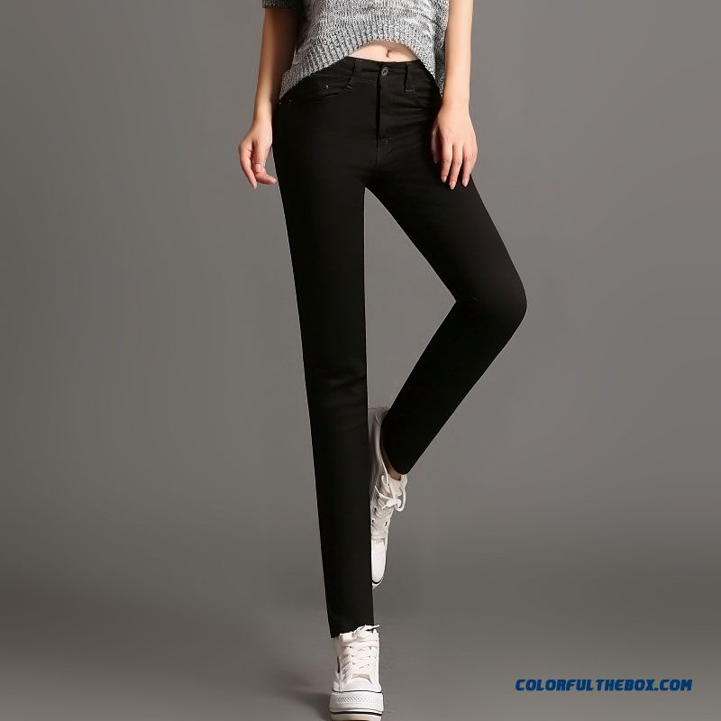 Autumn And Winter Pants Casual Women Slim Thin Elastic Pants Pencil Pants Pants Xl