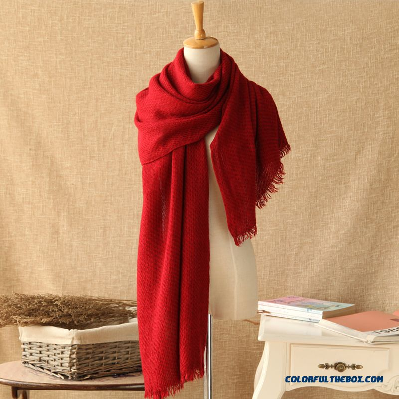 Autumn And Winter Soft Knit Wool Scarves Ice Cream Solid Color Color Scarves Women Acautumn And Winter Soft Knit Wool Scarves Ice Cream Solid Color Color Scarves Women Accessoriescessories - more images 3