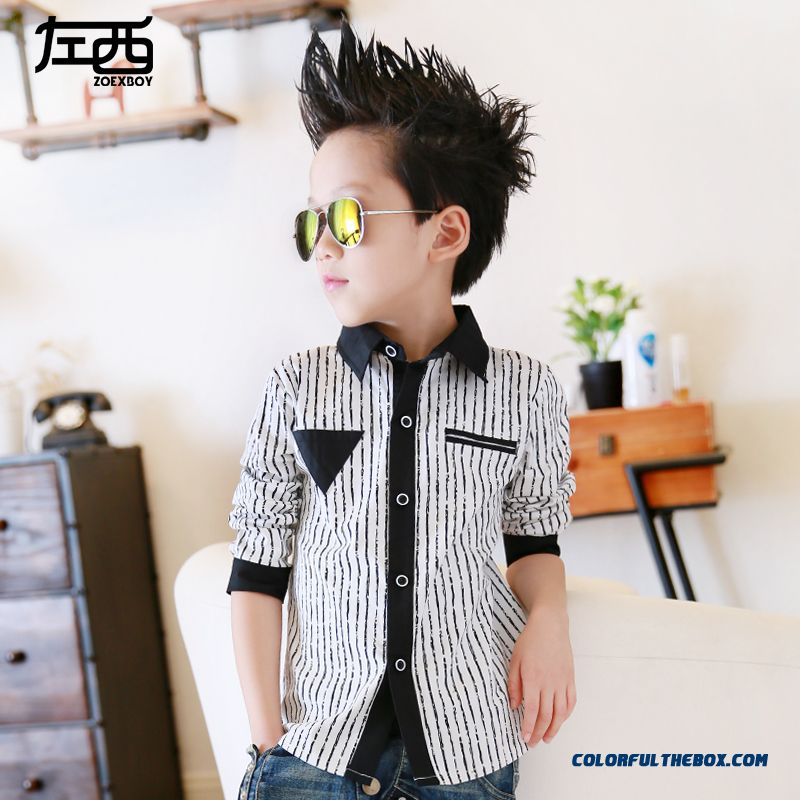 Autumn Boys Long-sleeved Shirt Fashionable Designed Specifically For Kids