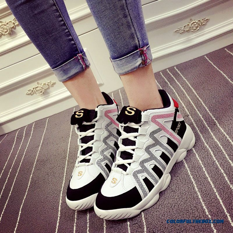 Autumn Casual Shoes Increased Thick Bottom Breathable Running For Women