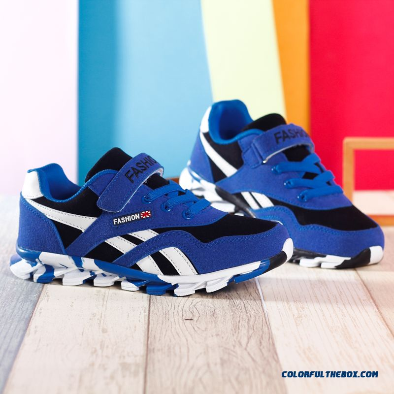 Autumn Casual Shoes Sport Shoes Running Shoes Utility Designed Specifically For Kids Boys Red And Blue