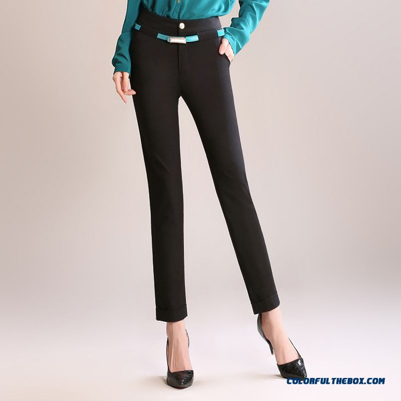 Autumn Clothing Casual Women Ankle-length Pants Elastic Thin Large Size Casual Comfortable