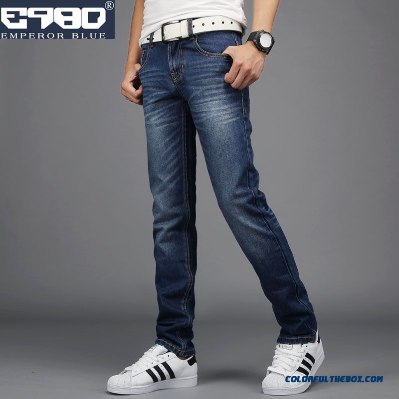 Autumn Men's Clothings Slim Straight Jeans Classic Look Fashion