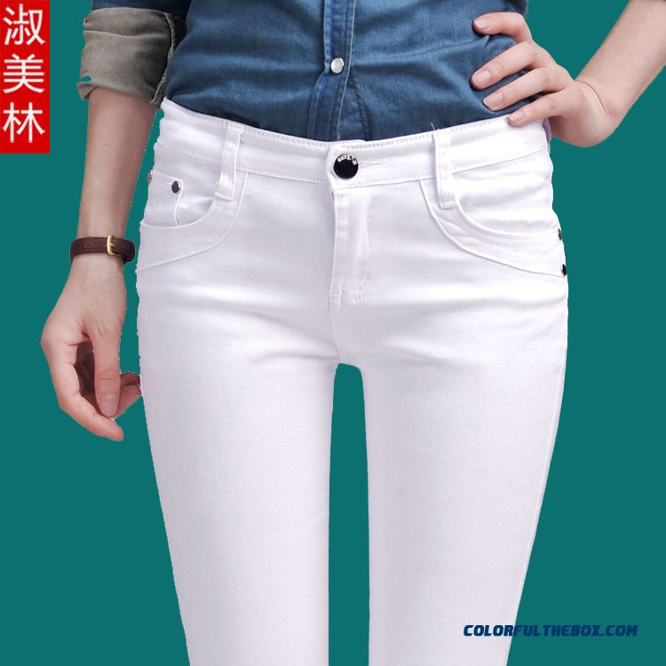 Autumn New Casual Pants Women Leggings White Pants Bottoming Pants