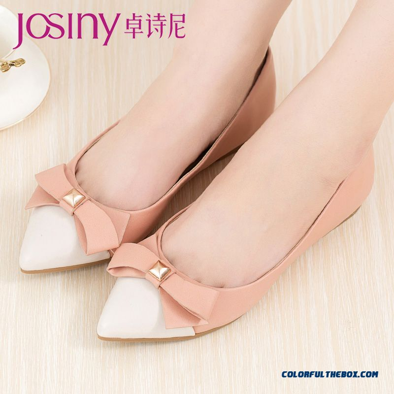 Autumn New European And Americane Style Women Shallow Mouth Pointed Flat Shoes