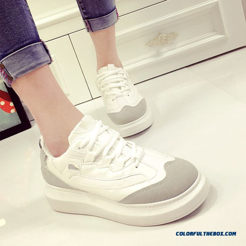 Autumn New Women's Running Casual Shoes White Tide Thick Bottom