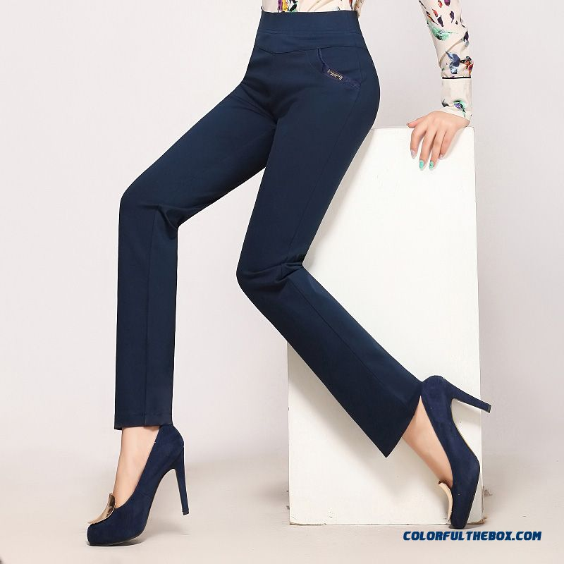 Autumn Slim Elastic Casual Casual Pants Straight Large Size Bottoming Outer Wear Long Pants