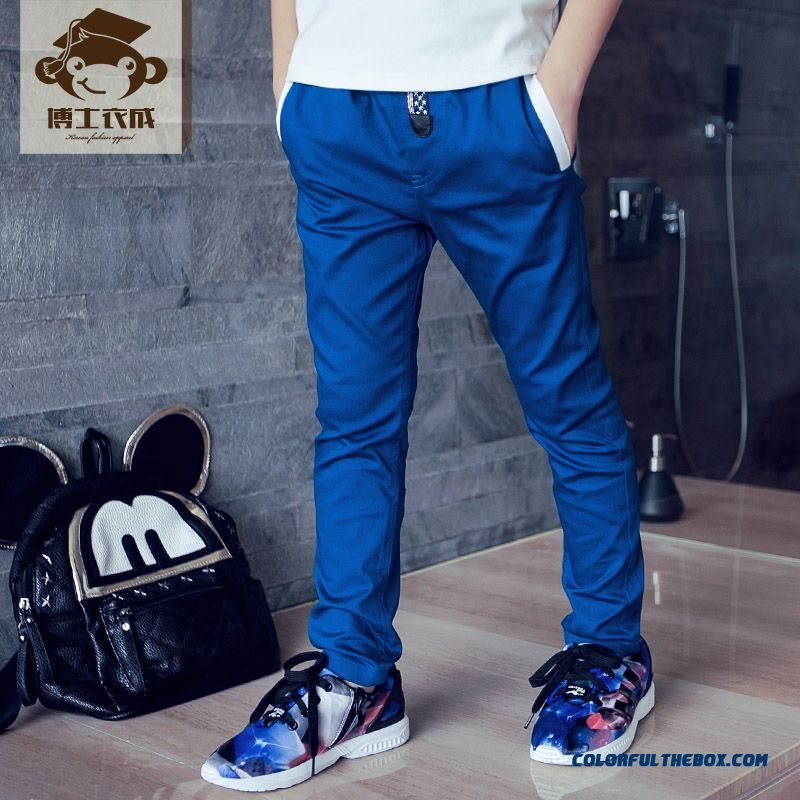 Autumn Sports Long Pants Thin Solid Color Designed Specifically For Boys Kids - more images 1