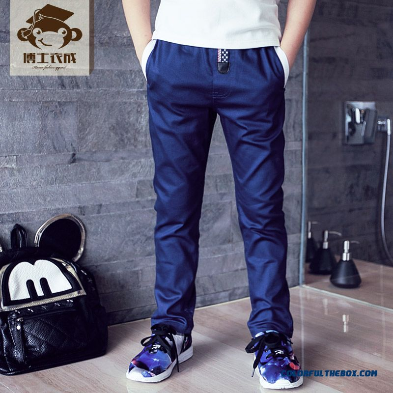 Autumn Sports Long Pants Thin Solid Color Designed Specifically For Boys Kids - more images 2