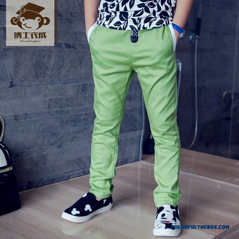Autumn Sports Long Pants Thin Solid Color Designed Specifically For Boys Kids - more images 4