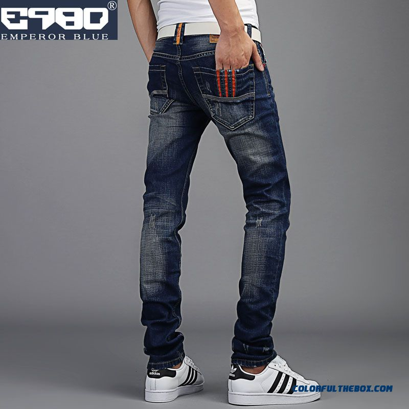 Autumn Stretch Long Jeans Men Slim Straight Tide On Sale