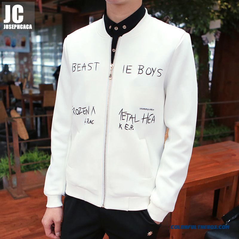 Autumn Tide Men's Fashion Casual Jackets Slim Long-sleeved Coat Youth Personality